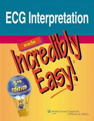 ECG Interpretation Made Incredibly Easy! 5th Edition 9781608312894 1608312895