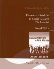 Elementary Statistics in Social Research 2nd edition 9780205516834 0205516831