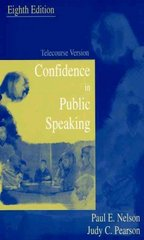 Confidence in Public Speaking 8th edition 9780195330434 0195330439