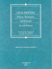 Legal Drafting 2nd Edition 9780314184405 0314184406