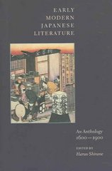 Early Modern Japanese Literature 0 9780231109918 0231109911