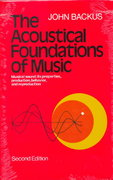The Acoustical Foundations of Music 2nd Edition 9780393090963 0393090965