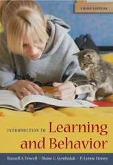 Introduction to Learning and Behavior 3rd Edition 9781111806071 1111806071