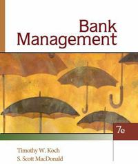 Bank Management 7th edition 9780324655780 0324655789