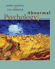 Abnormal Psychology 2nd edition 9780470073872 047007387X