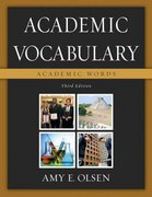 Academic Vocabulary 3rd edition 9780321439529 032143952X