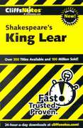 CliffsNotes on Shakespeare's King Lear 1st edition 9780764585821 0764585827