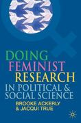 Doing Feminist Research in Political and Social Science 0 9780230507777 0230507778