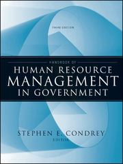 Handbook of Human Resource Management in Government 3rd edition 9780470484043 0470484047