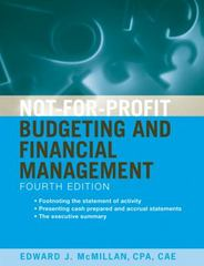 Not-for-Profit Budgeting and Financial Management 4th Edition 9780470642382 0470642386