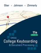 Gregg College Keyboarding &amp. Document Processing (GDP). Lessons 1-20 text 11th Edition 9780077344221 0077344227