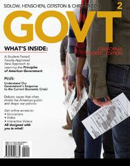 GOVT, 2011 California Edition (with Bind-In Printed Access Card) 2nd edition 9780495908685 0495908681