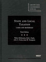 Cases and Materials on State and Local Taxation, 9th 9th edition 9780314185068 0314185062