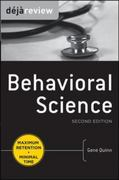 Deja Review Behavioral Science, Second Edition 2nd edition 9780071627283 0071627286