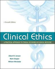 Clinical Ethics 7th Edition 9780071634144 0071634142