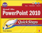 Microsoft Office PowerPoint 2010 QuickSteps 2nd Edition 9780071634915 0071634916
