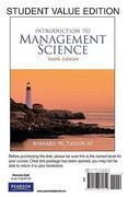 Introduction to Management Science, Student Value Edition 10th edition 9780137070619 0137070616