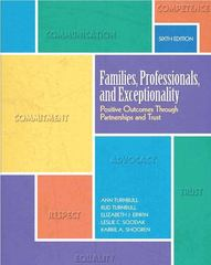 Families, Professionals, and Exceptionality 6th Edition 9780137070480 0137070489