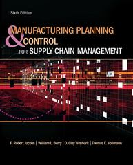 Manufacturing Planning and Control for Supply Chain Management 6th Edition 9780073377827 0073377821
