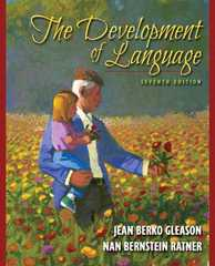 The Development of Language 7th Edition 9780205593033 0205593038