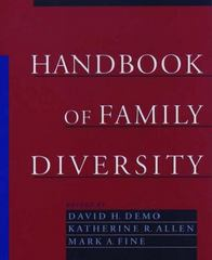 Handbook of Family Diversity 1st Edition 9780195120394 0195120396