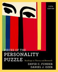 Pieces of the Personality Puzzle 5th Edition 9780393934366 0393934365