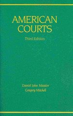American Courts 3rd Edition 9780314910936 031491093X