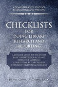 Checklists for Doing Library Research and Reporting 0 9781441533548 1441533540