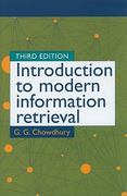 Introduction to Modern Information Retrieval 3rd Edition 9781555707156 1555707157