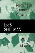 Teaching as Community Property 1st edition 9780470623084 047062308X