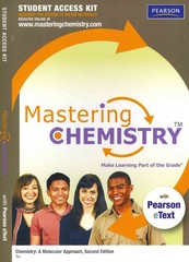MasteringChemistry with Pearson eText Student Access Code Card for Chemistry: A Molecular Approach 2nd edition 9780321676313 0321676319