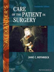 Alexander's Care of the Patient in Surgery 14th Edition 9780323069168 0323069169
