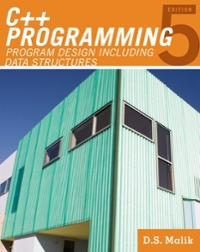 C++ Programming 5th edition 9780538798099 0538798092