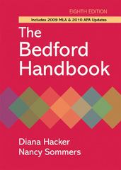 The Bedford Handbook with 2009 MLA and 2010 APA Updates 8th edition 9780312652692 0312652690