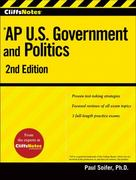 CliffsNotes AP U.S. Government and Politics 2nd Edition 9780470562147 0470562145
