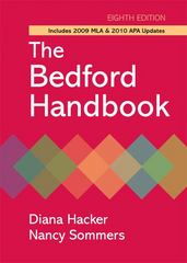The Bedford Handbook with 2009 MLA and 2010 APA updates 8th edition 9780312652685 0312652682