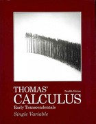 Thomas' Calculus Early Transcendentals, Single Variable with MML/MSL Student Access Code Card 12th Edition 9780321705402 0321705408