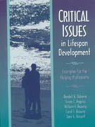 Critical Issues in Lifespan Development 1st edition 9780205271054 0205271057