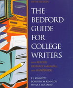 The Bedford Guide for College Writers 5th edition 9780312201845 0312201842