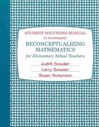 Student Solutions Manual for Reconceptualizing Mathematics 1st edition 9781429252577 142925257X