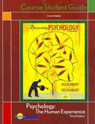 Discovering Psychology Coast Telecourse Guide 5th edition 9781429250764 1429250763