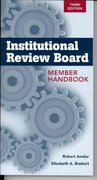 Institutional Review Board: Member Handbook 3rd edition 9780763780005 0763780006