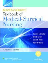 Smeltzer 12e 1 Volume + Clinical Simulations: Medical-Surgical/Critical Care Package 12th edition 9781608318704 1608318702