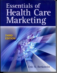 Essentials Of Health Care Marketing 3rd Edition 9780763783334 0763783331