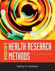 Introduction To Health Research Methods 1st Edition 9780763783341 076378334X