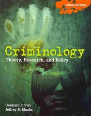 Criminology 3rd Edition 9780763766658 0763766658
