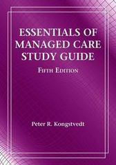 Ssg- Essentials Managed Health Care 5E Study Guide 5th edition 9780763764319 0763764310