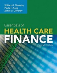 Essentials Of Health Care Finance 7th Edition 9780763789299 0763789291