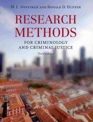 Research Methods for Criminology and Criminal Justice 3rd Edition 9780763777326 0763777323