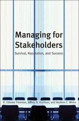 Managing for Stakeholders 0 9780300125283 0300125283